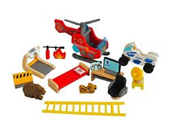 16-Piece Wooden Heroes House Accessory Set  - Hape Toys for Mutable